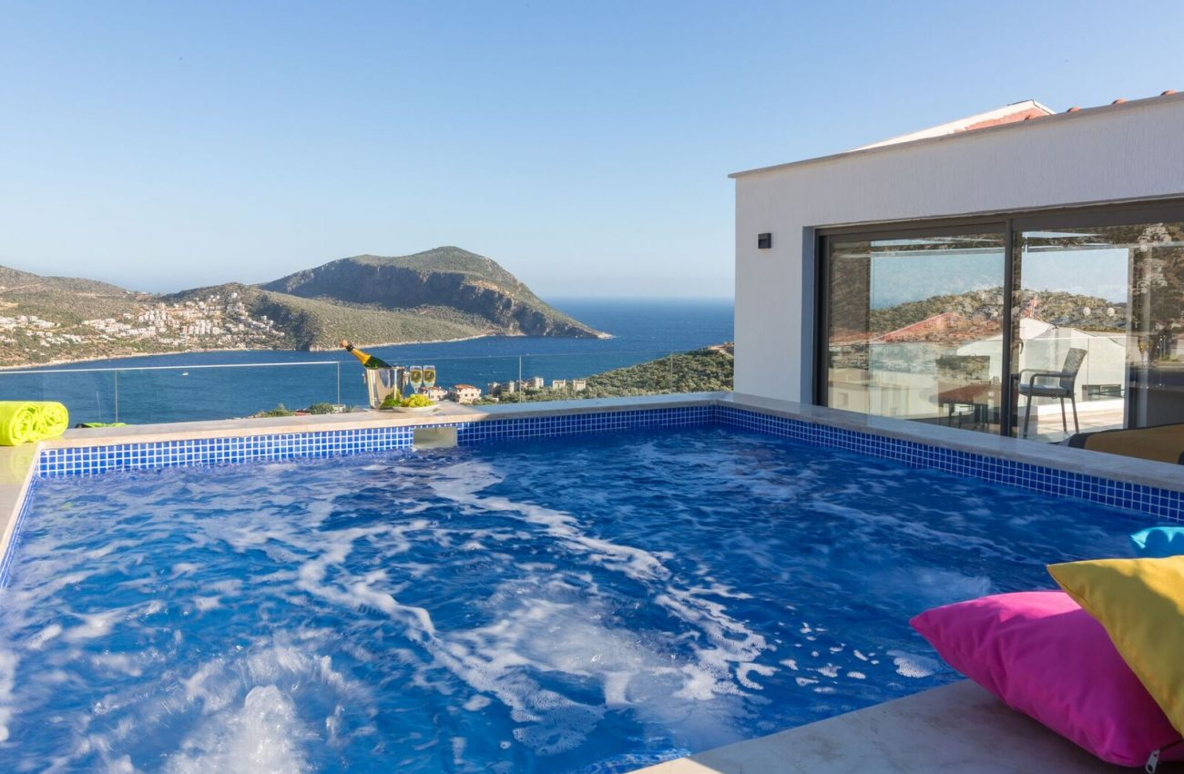 villa-eternity-kalkan-terrace jacuzzi of Bedroom 1